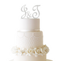 Initial Cake Topper Set with Swarovski Crystals