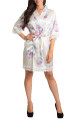 Blank Floral Lace Satin Robe