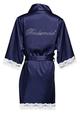 Rhinestone Bridal Party Lace Satin Robes