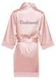 Bridal Party Lace Satin Robes with Glitter Print