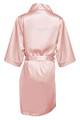 Blush Rhinestone Bridesmaid Satin Robe