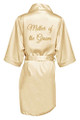 Champagne Gold Glitter Print Mother of the Groom Satin Robe