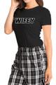 wifey black tee