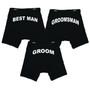 Printed Boxer Briefs for the Groom, Best Man, Groomsmen