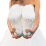I Do Engagement Ring Shoe Stickers for Bridal Shoes - Light Pink and Clear