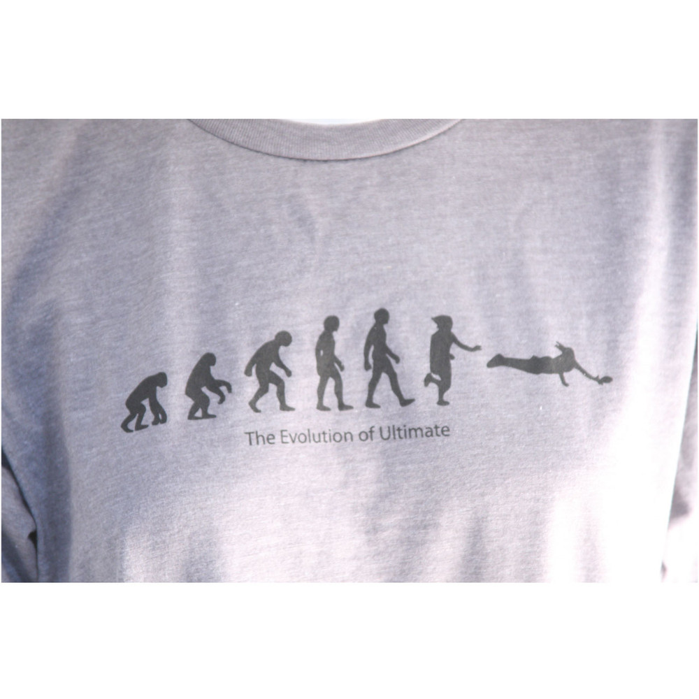 Ultimate Disc Shirt - EVOLUTION OF ULTIMATE FRISBEE Design