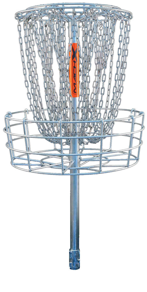 DGA MACH X DISC GOLF BASKET, permanent and removable (locking)