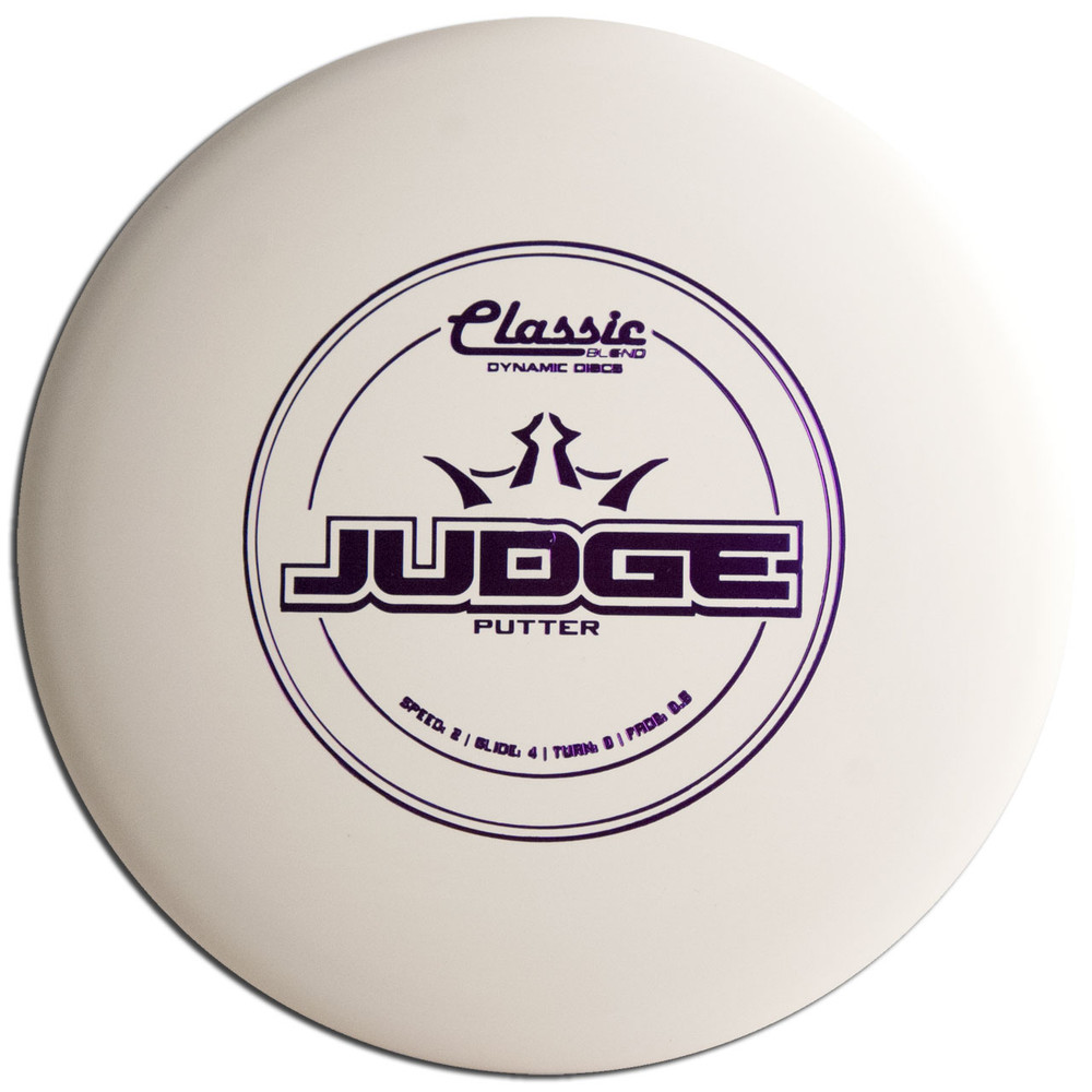 DYNAMIC CLASSIC BLEND JUDGE DISC GOLF PUTT AND APPROACH, white