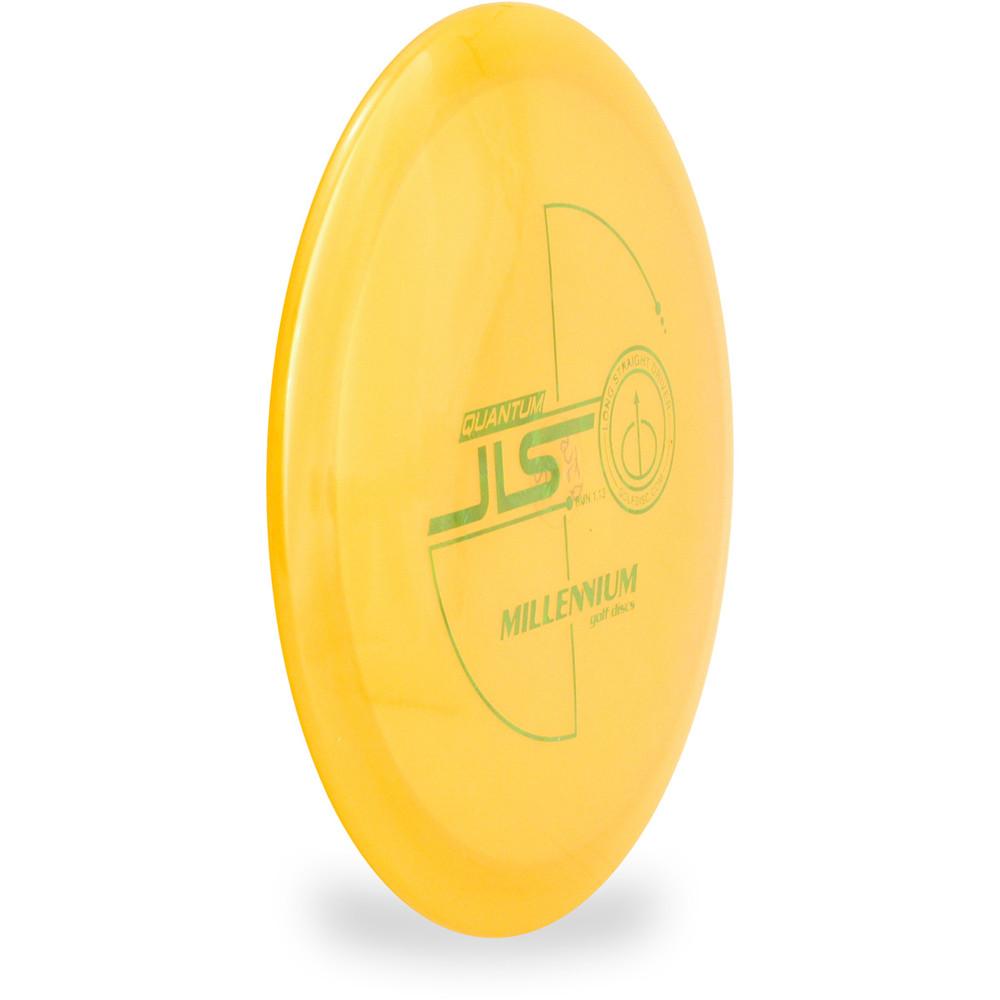 Millenium Q JLS Disc Golf Driver Orange Angled Top View