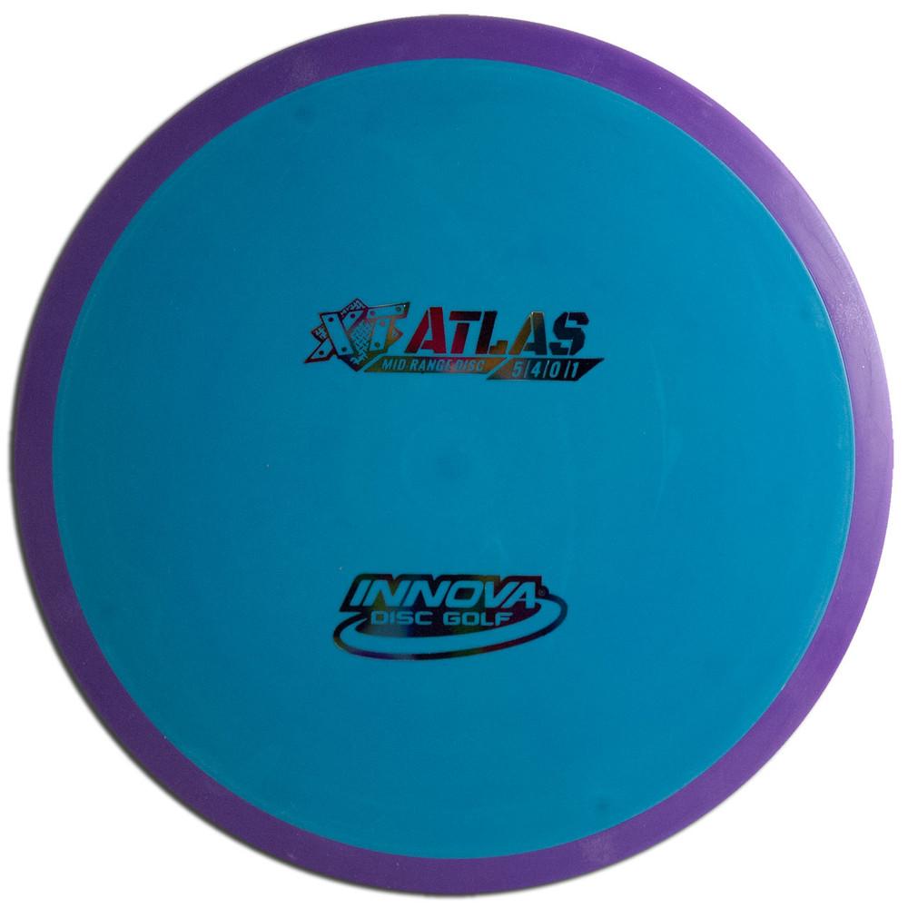 INNOVA XT PRO ATLAS DISC GOLF MID-RANGE OVERMOLD, blue/purple