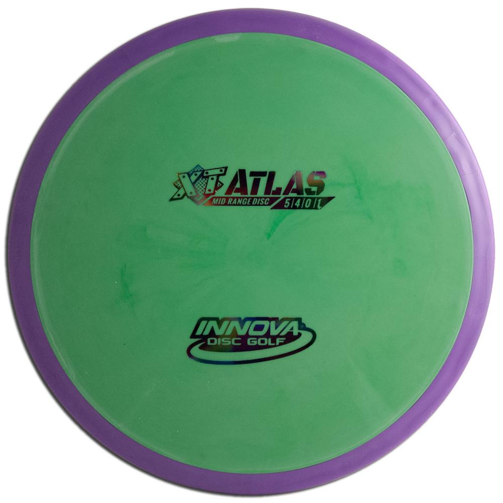INNOVA XT PRO ATLAS DISC GOLF MID-RANGE OVERMOLD, green/purple