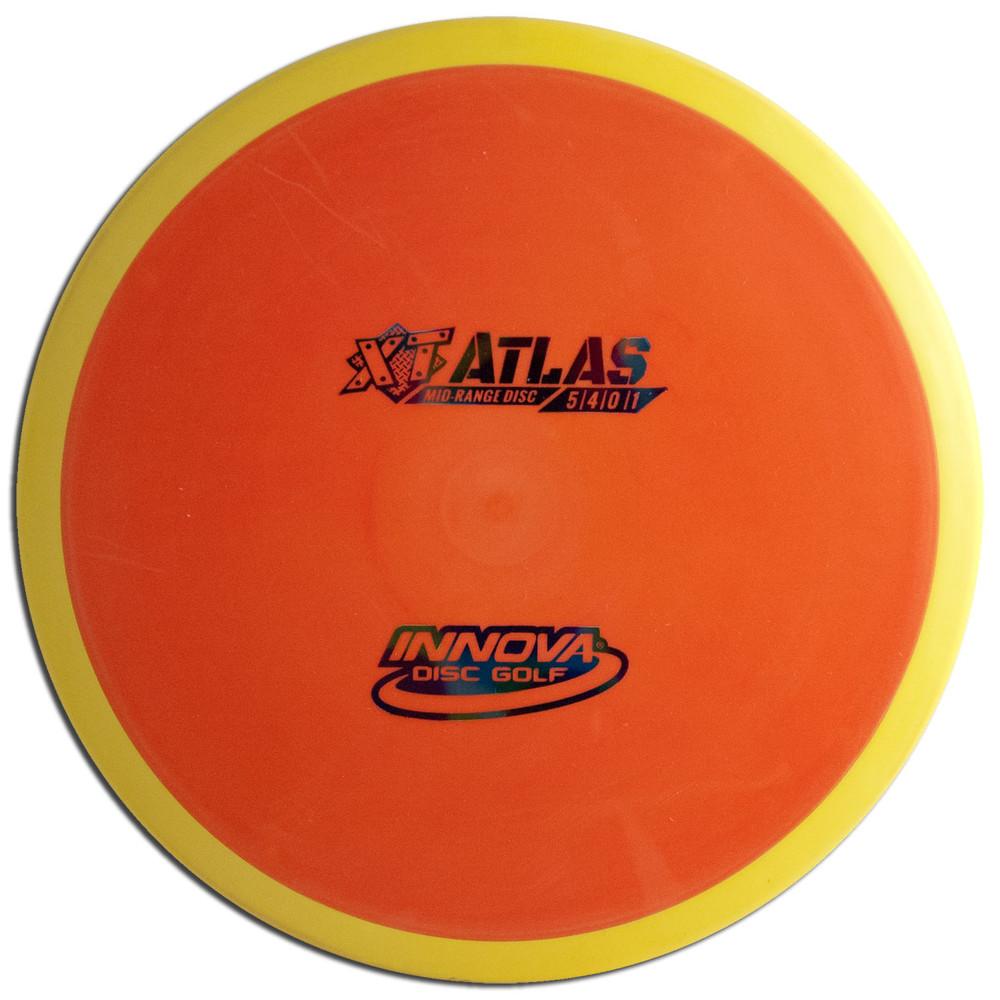 INNOVA XT PRO ATLAS DISC GOLF MID-RANGE OVERMOLD, orange/yellow