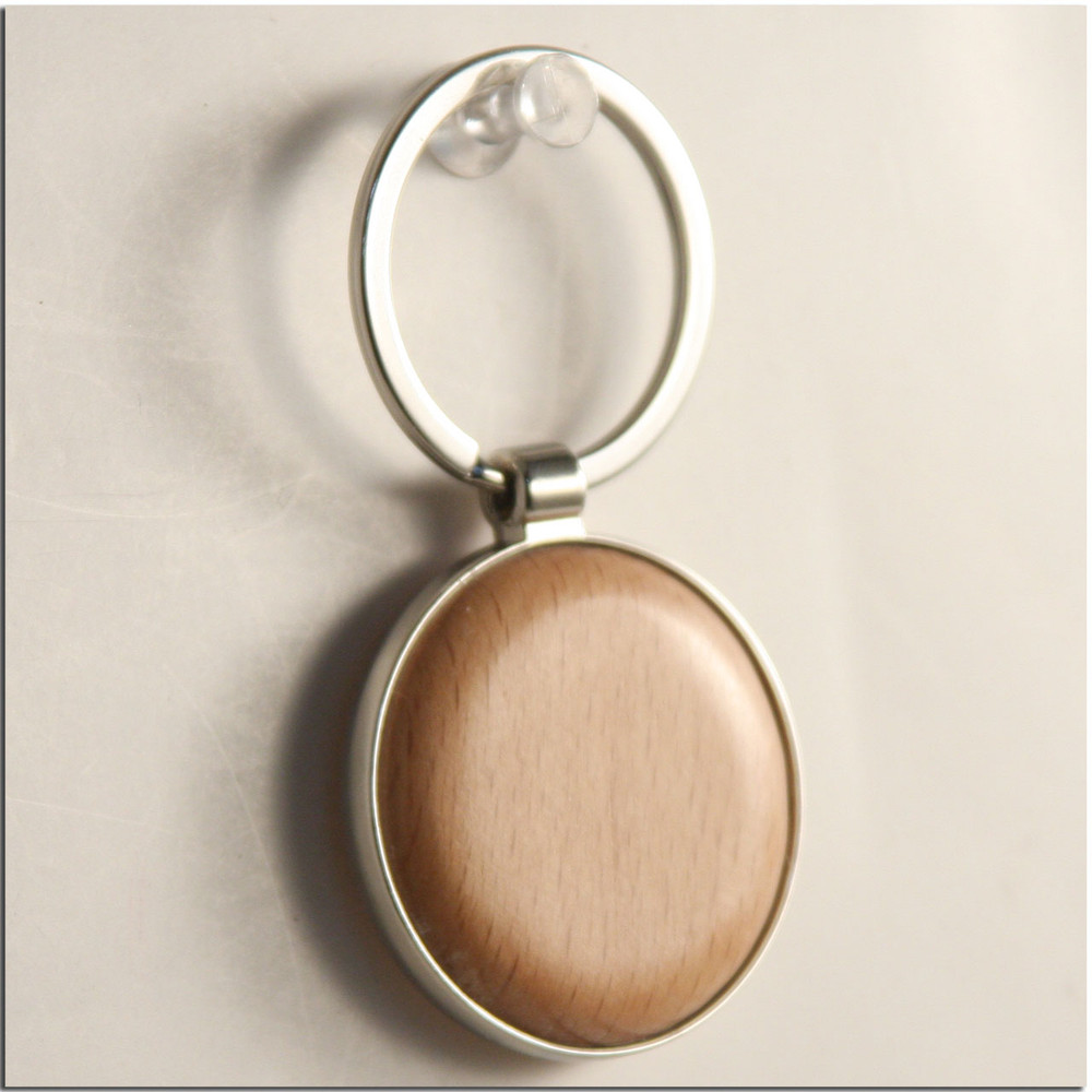 WOOD DISC GOLF MINI KEYCHAIN TROPHY OR CLUB TAGS - METAL OUTER -BLANK