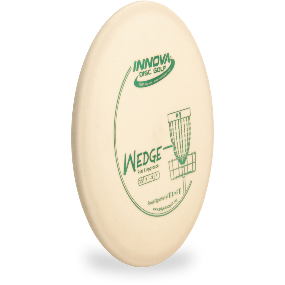 Innova DX WEDGE Approach Disc Golf Disc White Angled Top View