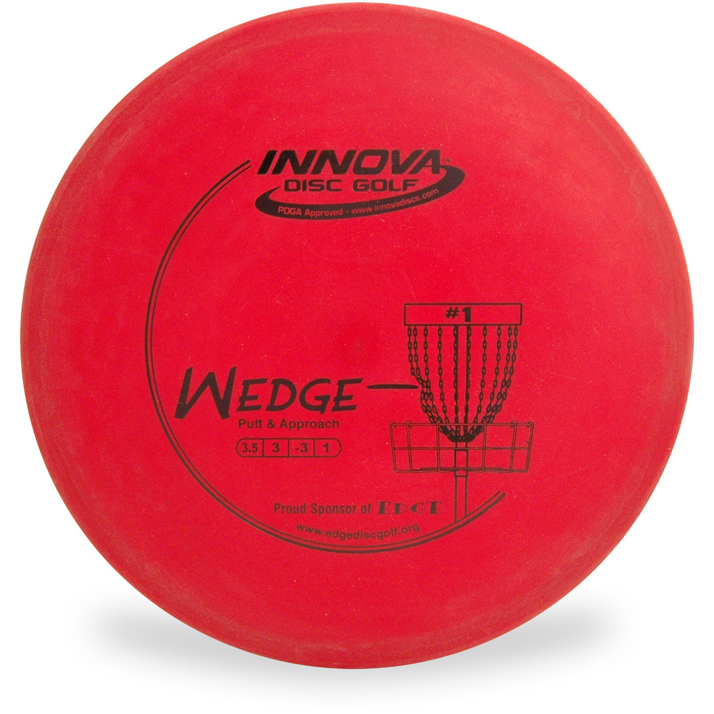 Innova DX WEDGE Approach Disc Golf Disc Red Top View.