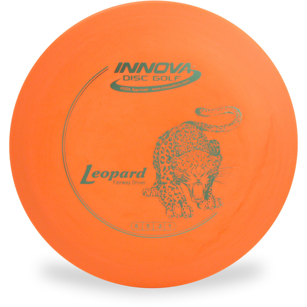 Innova DX LEOPARD Disc Golf Fairway Driver Orange Top View