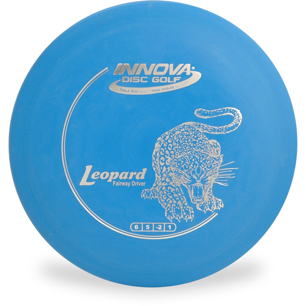 Innova DX LEOPARD Disc Golf Fairway Driver Blue Top View