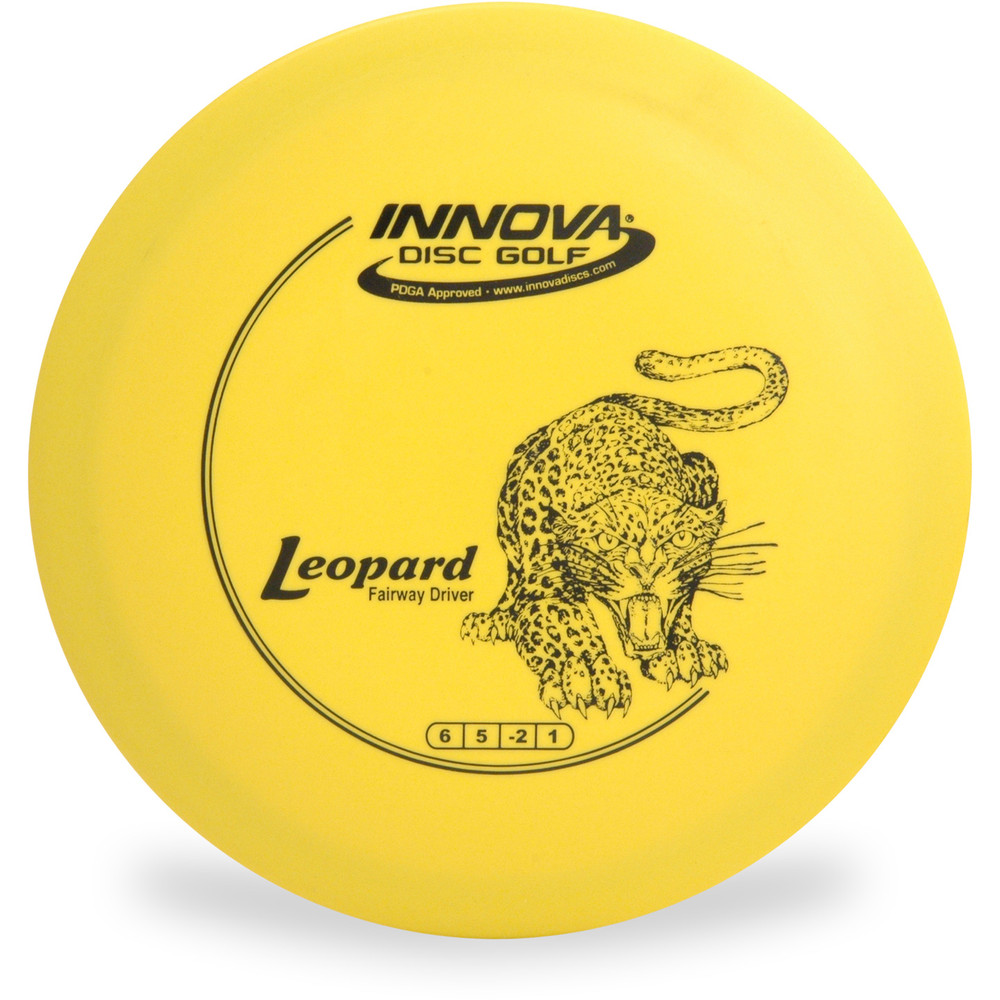 Innova DX LEOPARD Disc Golf Fairway Driver Yellow Top View
