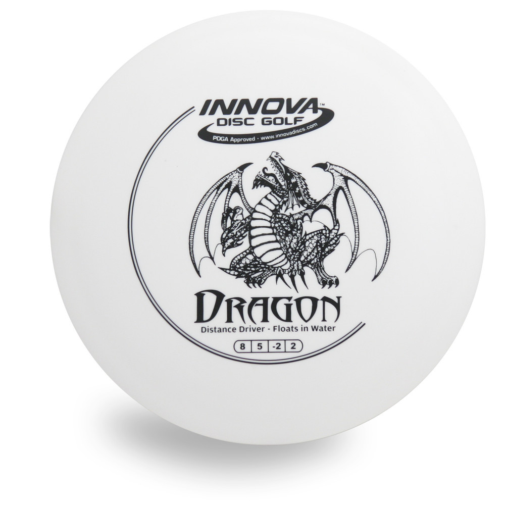 Innova DX Dragon Disc Golf Driver Floats in Water! Front View white
