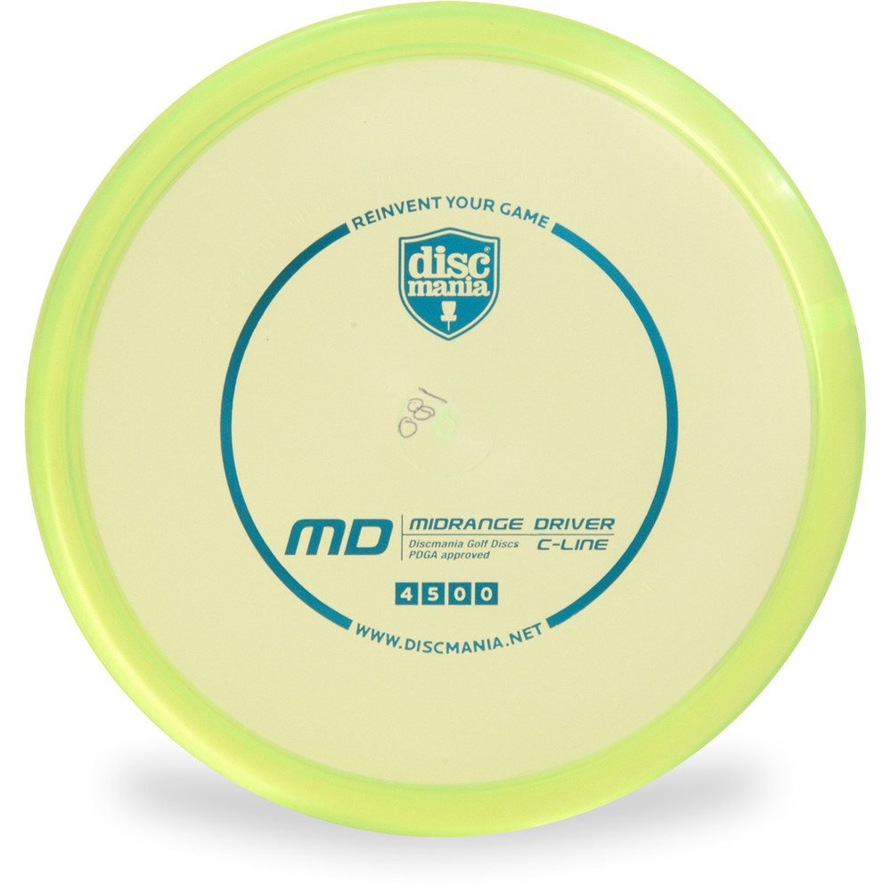 Discmania C-LINE MD Mid-Range Golf Disc Green Front View