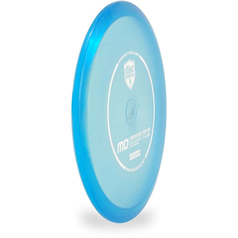 Discmania C-LINE MD Mid-Range Golf Disc Blue Angled Front View