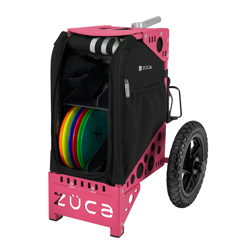 ZUCA ALL TERRAIN DISC GOLF CART - Onyx/Pink Frame