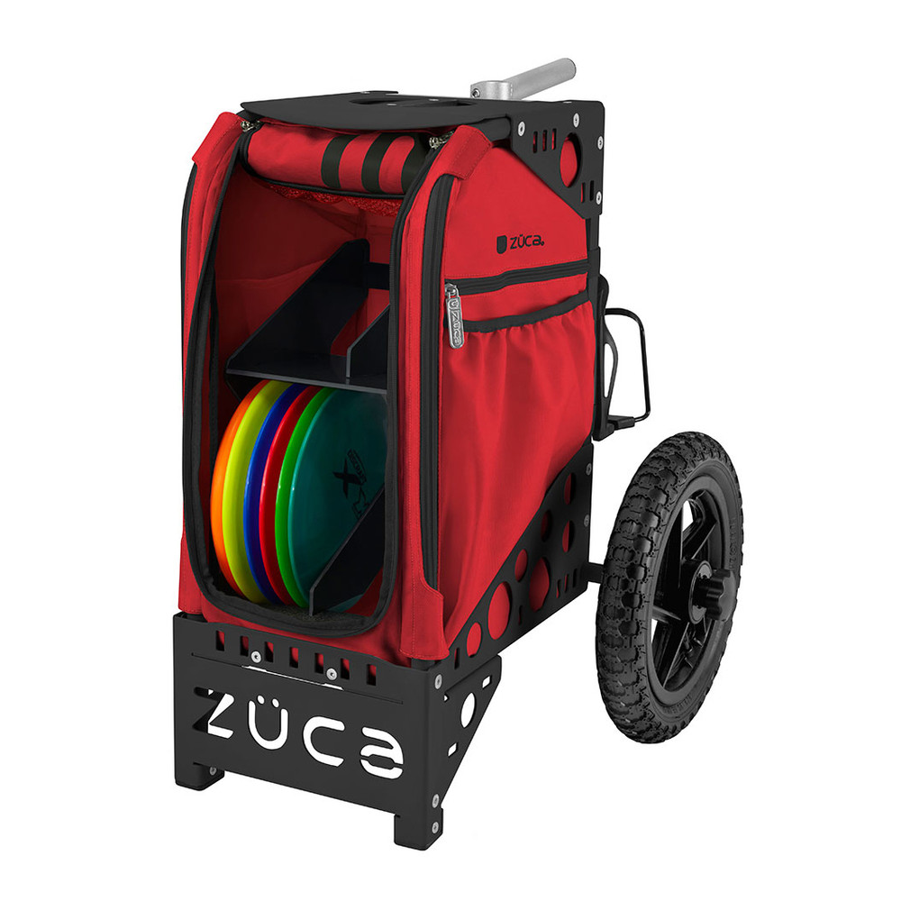 ZUCA ALL TERRAIN DISC GOLF CART - Infrared/Black Frame