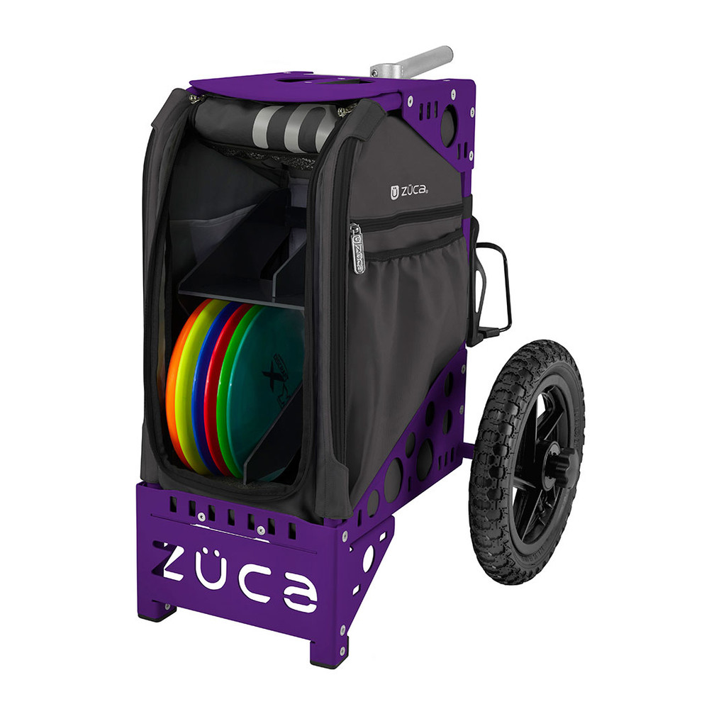 ZUCA ALL TERRAIN DISC GOLF CART - Gunmetal/Purple Frame