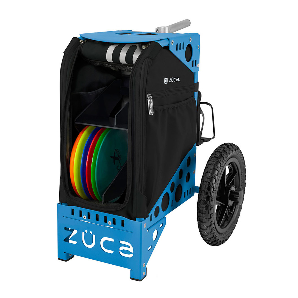 ZUCA ALL TERRAIN DISC GOLF CART - Onyx/Blue Frame