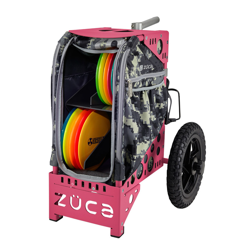 ZUCA ALL TERRAIN DISC GOLF CART - Anaconda/Pink Frame