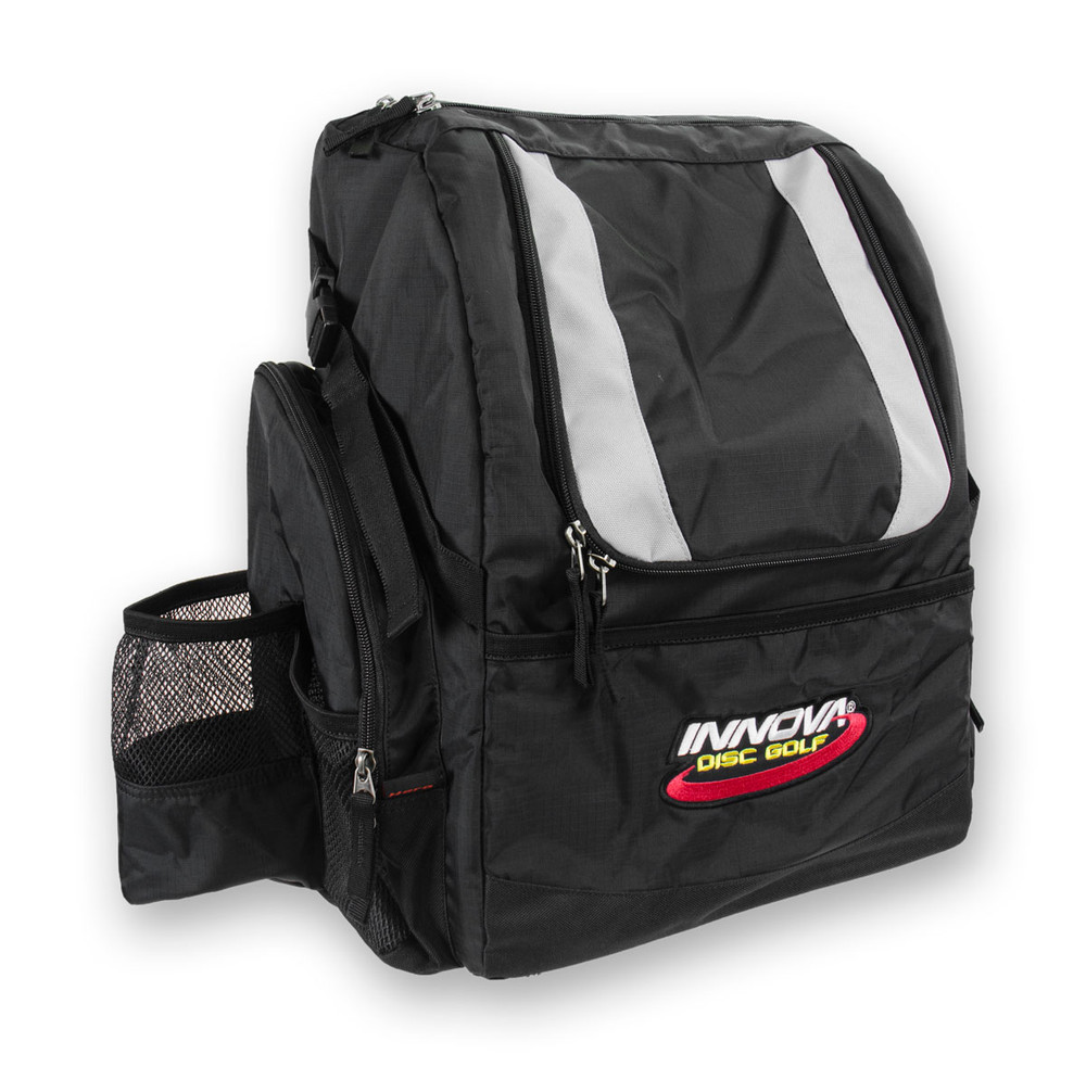 Black HEROPACK INNOVA DISC GOLF BACKPACK BAG - HOLDS 25 DISCS