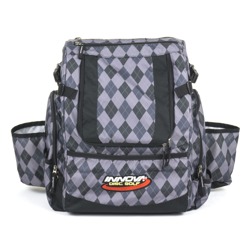 Argyle Black HEROPACK INNOVA DISC GOLF BACKPACK BAG - HOLDS 25 DISCS