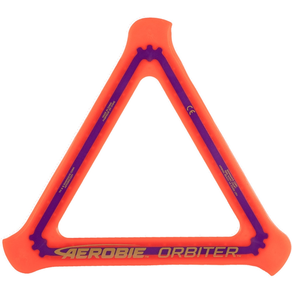 Aerobie ORBITER SOFT BOOMERANG 3 Pack. Top view of red boomerang.