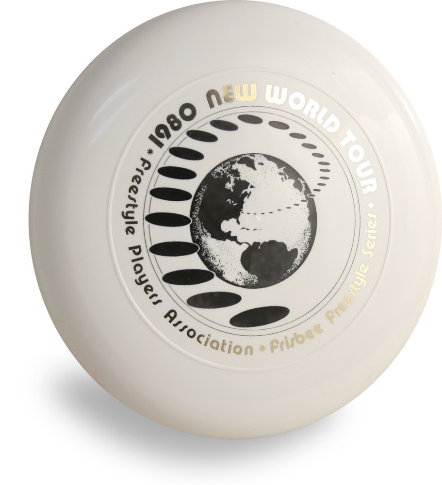 DISCRAFT SKY-STYLER FRISBEE COLLECTION - 1980 NEW WORLD TOUR 160g FREESTYLE DISC