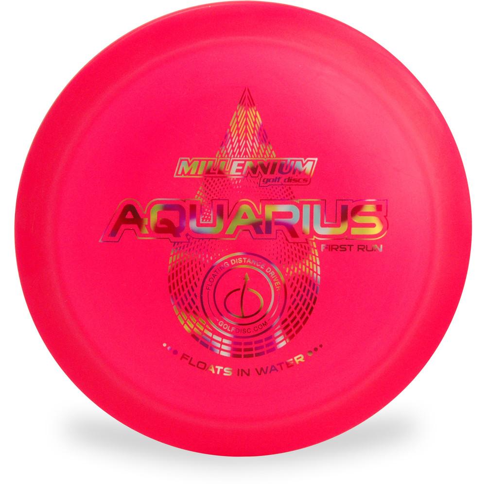 Millenium AQUARIUS Floating Disc Golf Driver Top View Hot Pink
