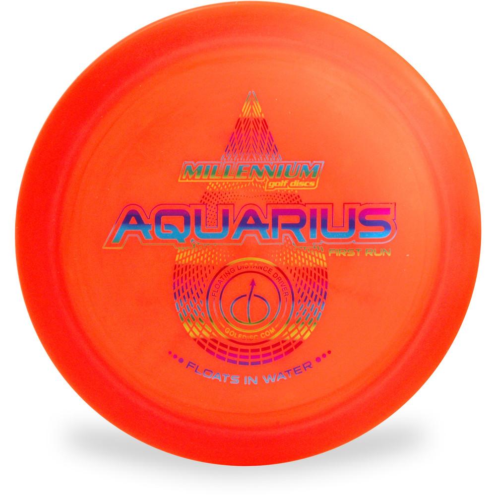 Millenium AQUARIUS Floating Disc Golf Driver A Top View Orange