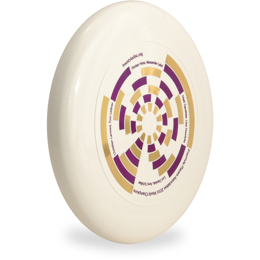 Discraft SKY STYLER Freestyle Disc - Custom FPA 2017 Design Angled Top View