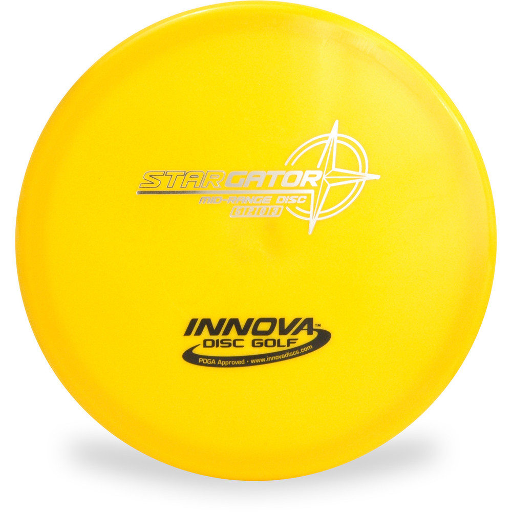 Innova STAR GATOR Disc Golf Mid-Range Driver Top View Yellow