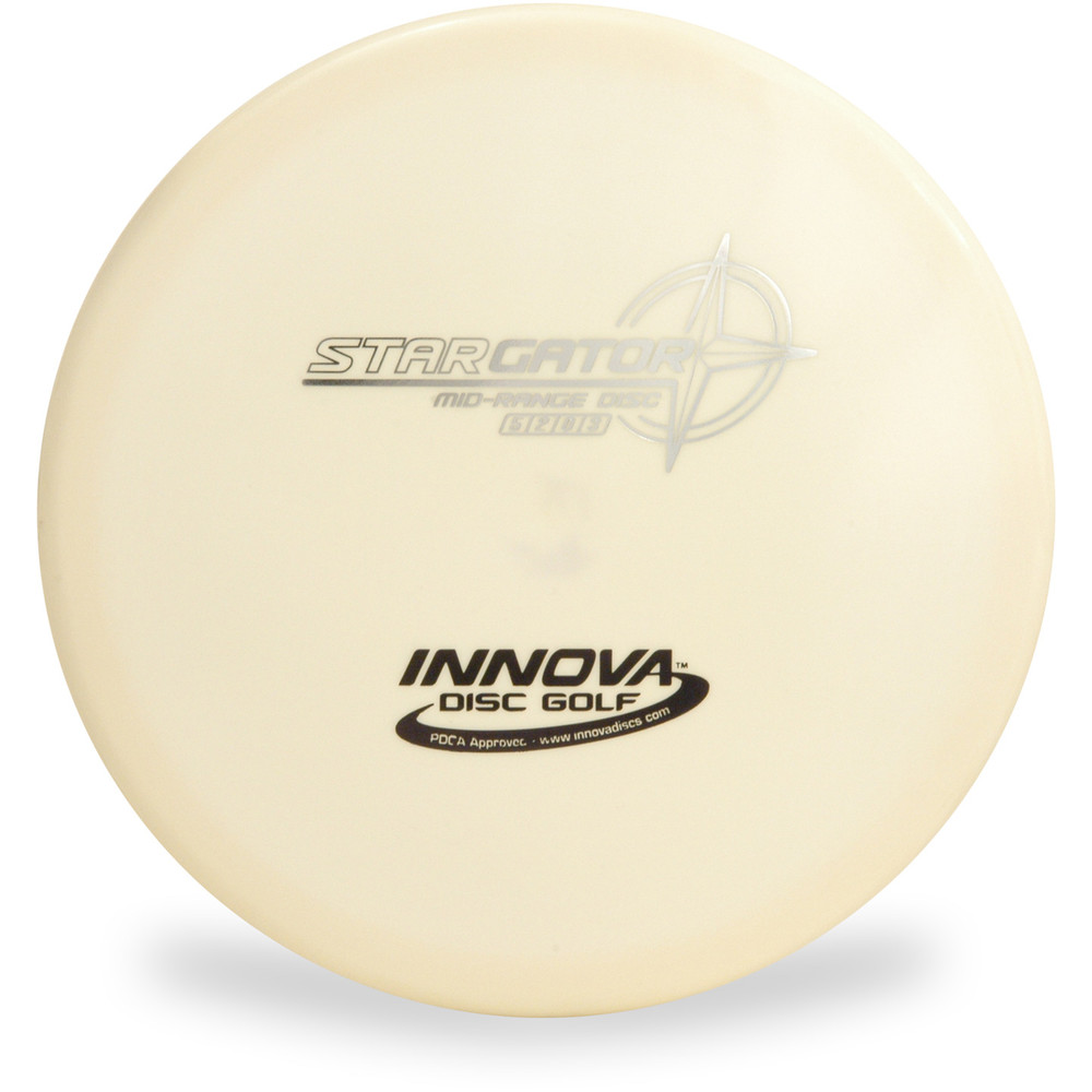 Innova STAR GATOR Disc Golf Mid-Range Driver Top View White