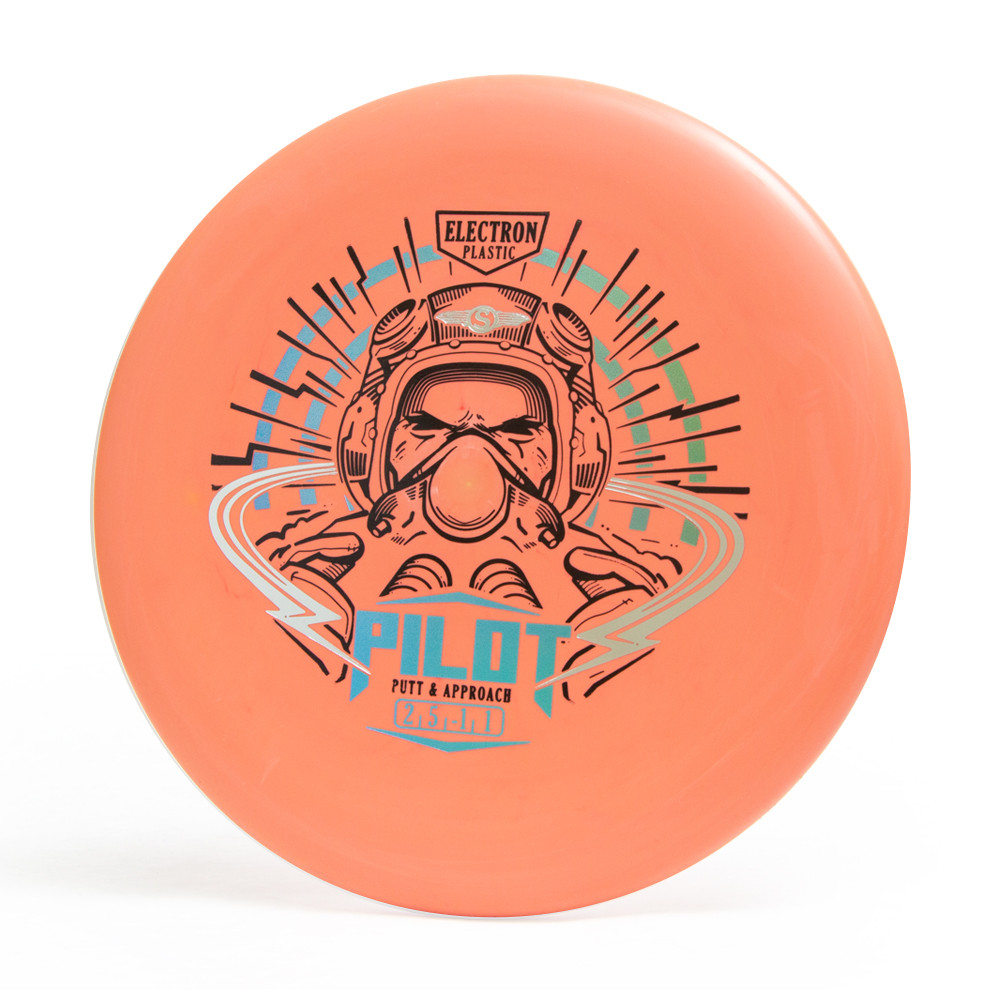 Streamline Electron Pilot. Shows top view of orange disc against a white background.