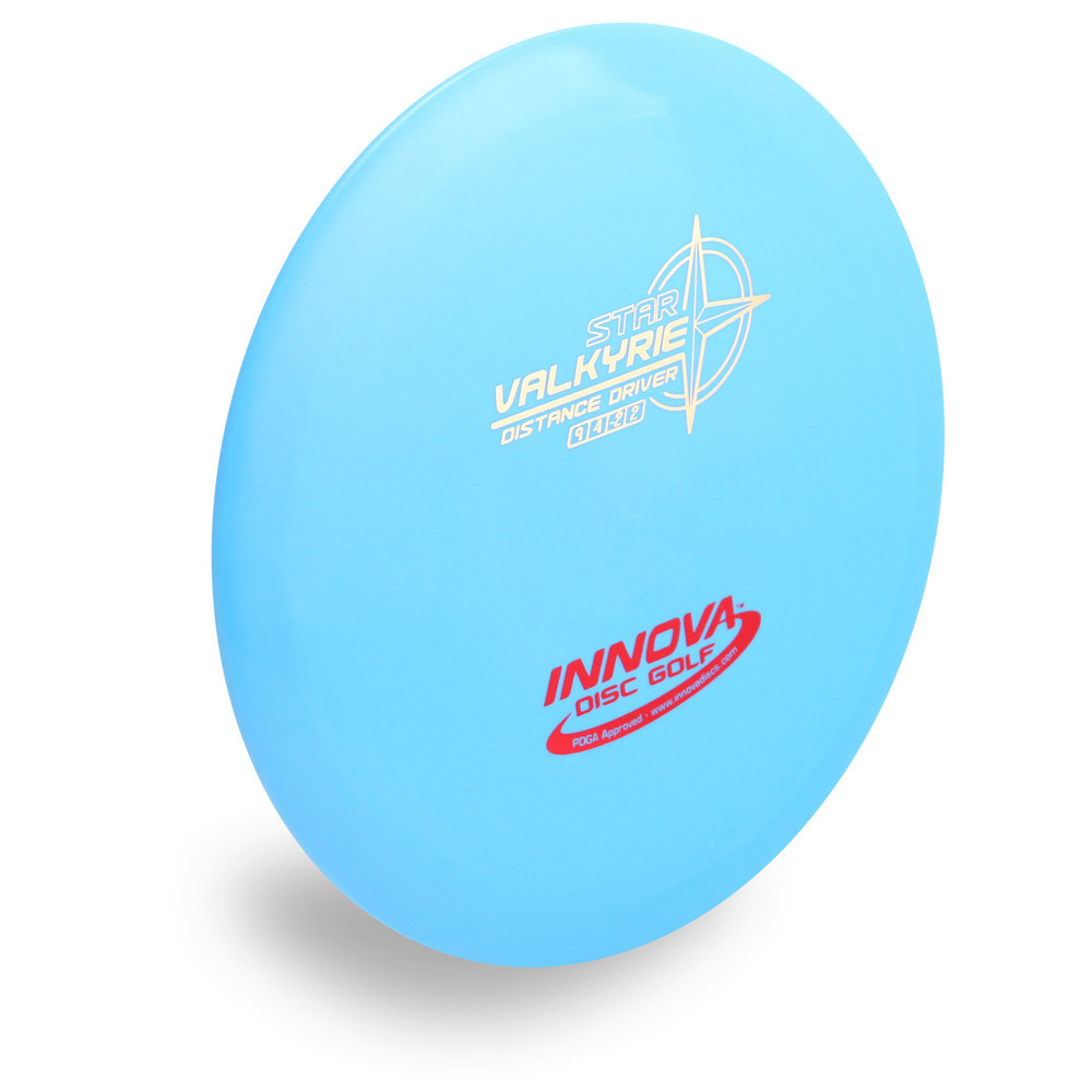 INNOVA STAR VALKYRIE DISC GOLF DRIVER - angled front view blue
