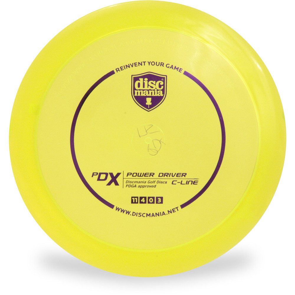 Discmania C PDX Disc Golf Driver Yellow Front View