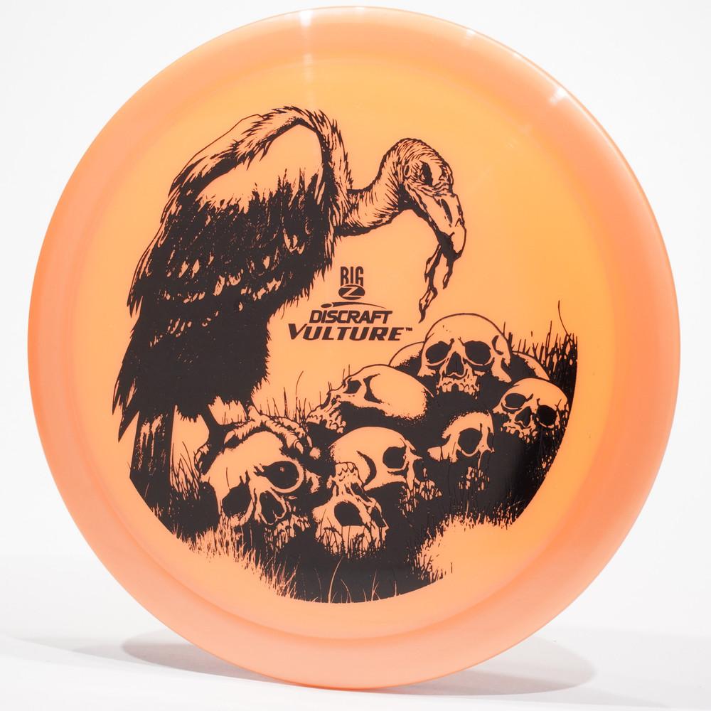 Discraft Big Z Vulture Orange Top View