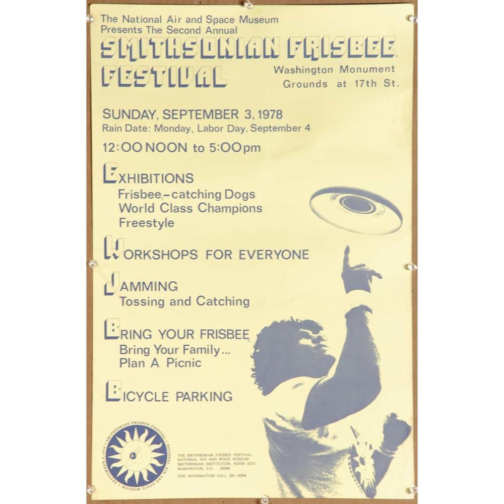 1978 SMITHSONIAN FRISBEE FESTIVAL POSTER