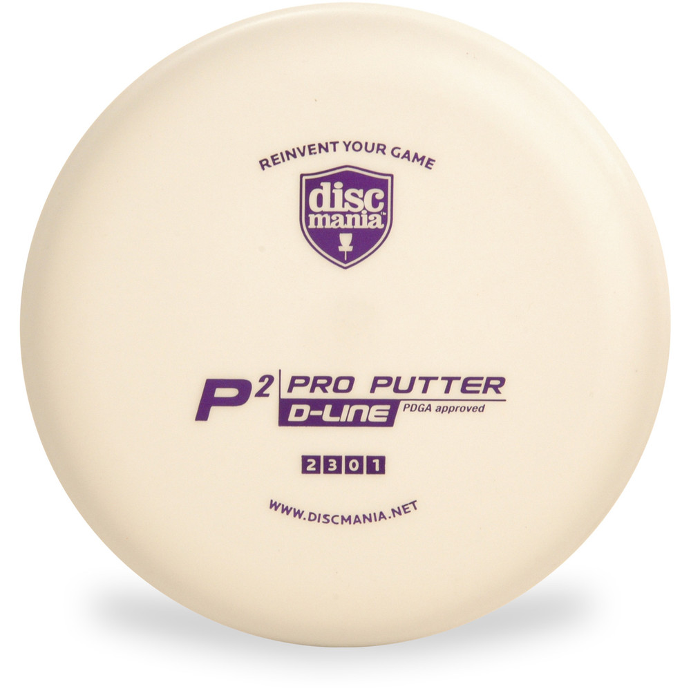 Discmania D-LINE P2 Putter & Approach Golf Disc White Top View