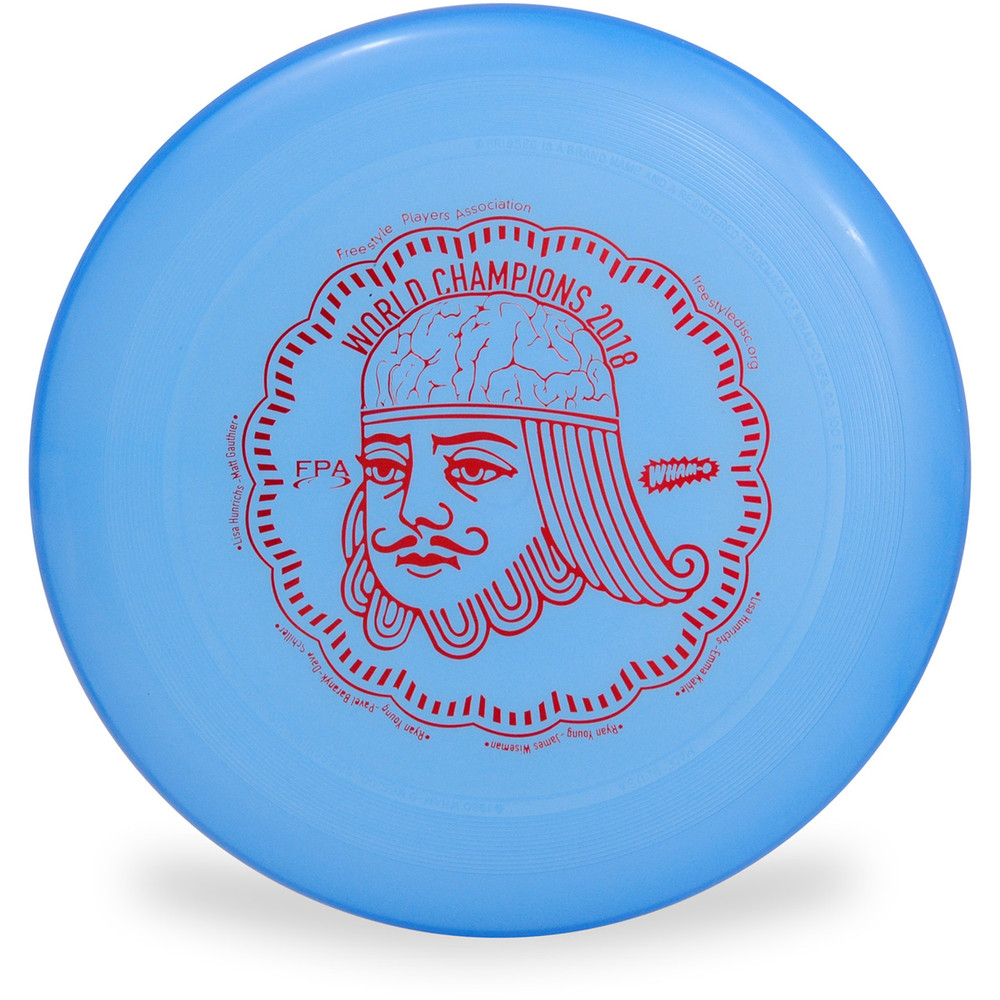 WHAM-O 100 MOLD FRISBEE - CUSTOM FPA 2019 DESIGN blue