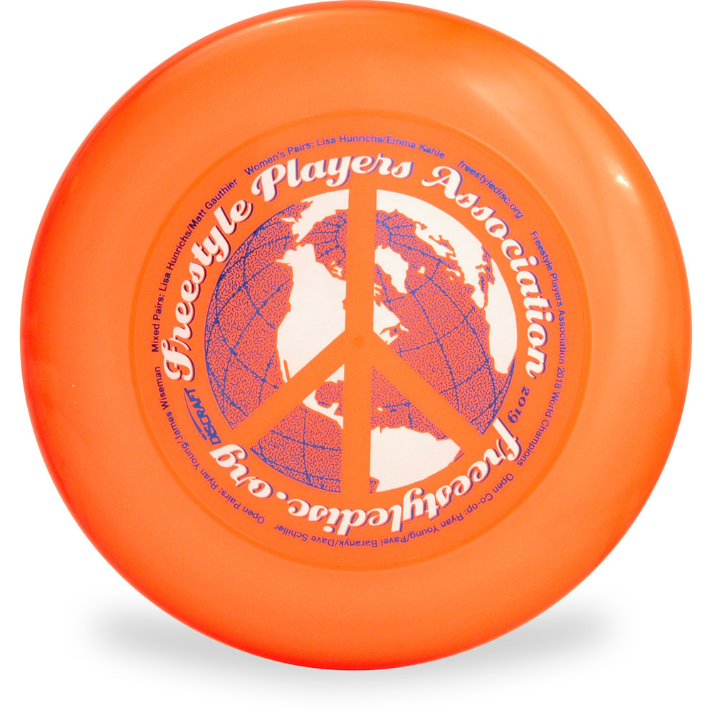 DISCRAFT SKY STYLER FREESTYLE DISC - CUSTOM FPA 2019 DESIGN Orange Front