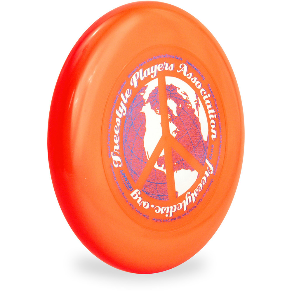 DISCRAFT SKY STYLER FREESTYLE DISC - CUSTOM FPA 2019 DESIGN Orange side front