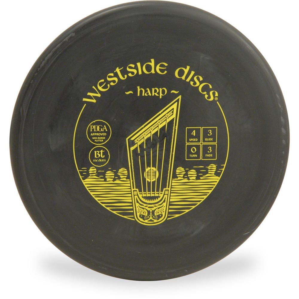 Westside Discs BT MEDIUM HARP Disc Golf Putter - front view black