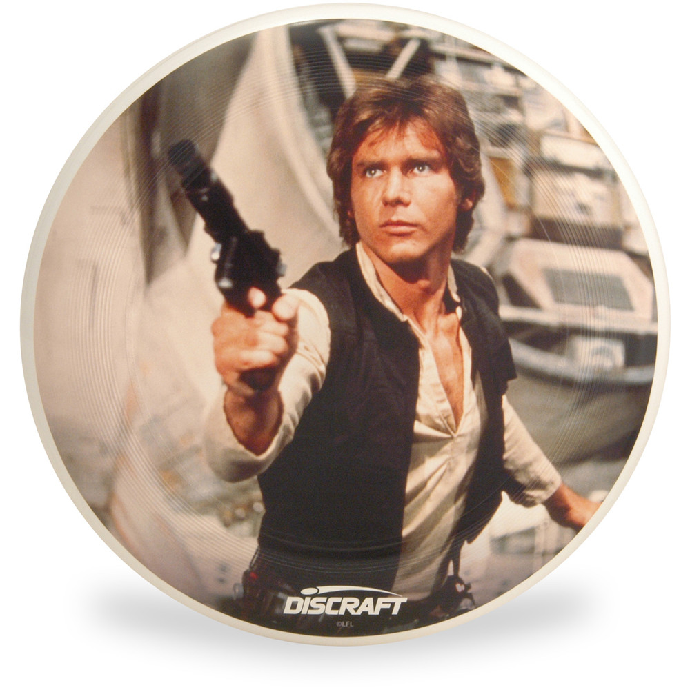 Discraft ULTRA-STAR - Star Wars Series SuperColor Ultimate Frisbee Disc - Han Solo - Top View